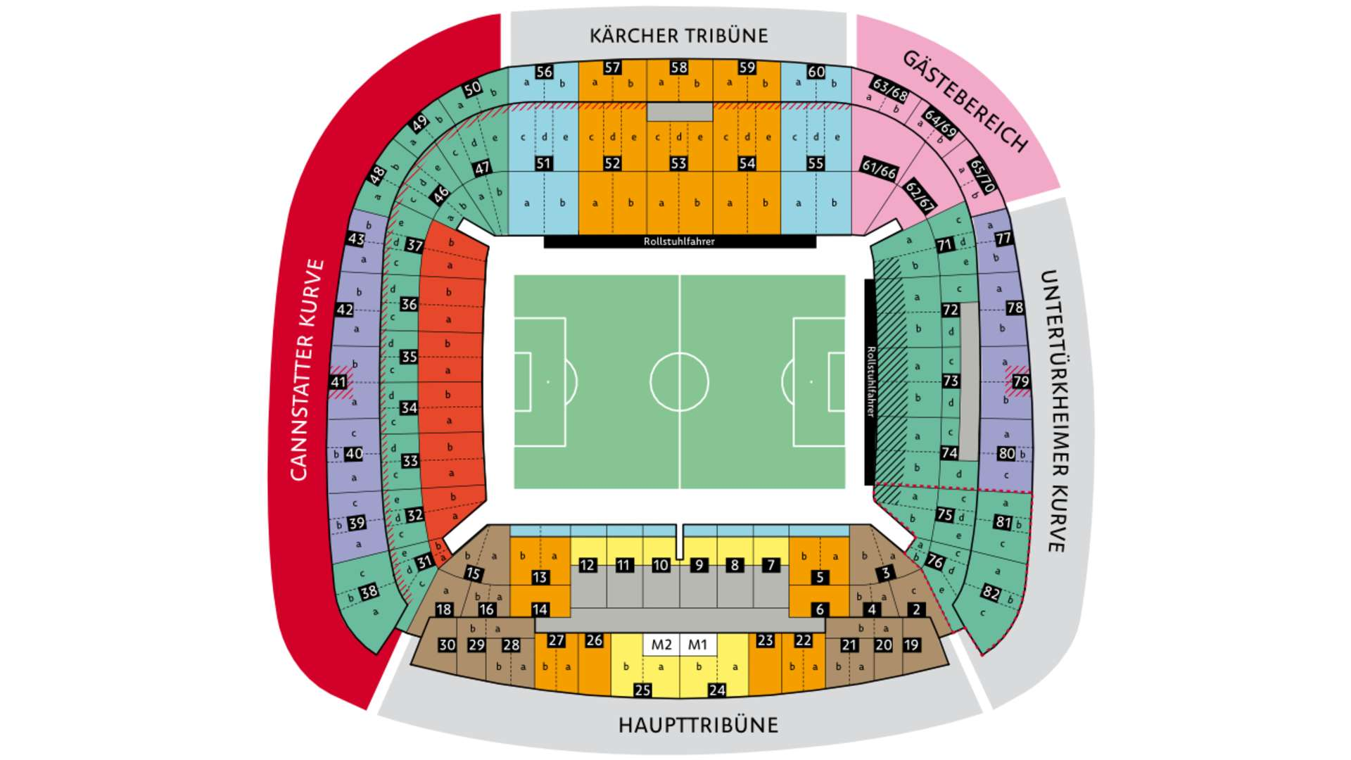 Mercedes Benz Arena Stuttgart Sitzplätze